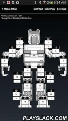 ROBOTIS MINI (ROBOTIS)  Android App - playslack.com ,  ROBOTIS MINI is a humanoid robot kit built with the small DYNAMIXEL XL-320 actuator.(Name is changed from DARWIN-MINI to ROBOTIS MINI)Users can use the ROBOTIS MINI exclusive App to send various commands to the ROBOTIS MINI,using the smart device's button, gesture, voice recognition, and messenger function.Main functions of the ROBOTIS MINI App.1. Send commands to the ROBOTIS MINI using buttons (basic movements, soccer moves, fighting…