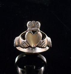 Sterling Silver Claddagh ring menwomen irish by BeachsideJewels, $39.99
