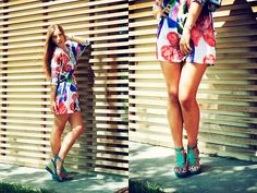 Colorful dress (by Federica Romani) http://lookbook.nu/look/3772421-Colorful-dress