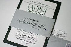 Lauren + Joseph: New Year's Eve Wedding Invitations