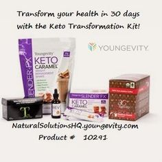 The all in one kit to get your Keto Program started the right way. This kit includes all Ketogenic-focused products for the first 30 days of your Keto transformation. The Keto Transformation Kit includes: (1) Slender FX Keto Caramel Weight Management Shake (1) Slender FX Keto Caramel Weight Management Bars (10 ct) (1) Slender FX REV bottle (1) True2Life TrueDetox Tea (1) Be The Change Coffee Y Cups