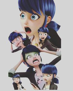 The 6 faces of Marinette