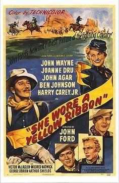 She Wore A Yellow Ribbon - John Wayne, John Agar, Shirley Temple Black Agar, and Harry Carey Jr