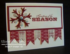 Great way to use up scraps, and make a beautiful Christmas card in the process!