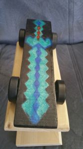 Minecraft diamond sword pinewood derby car