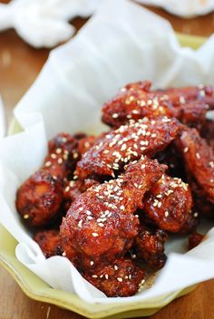 Yangnyeom chicken - Sticky spicy Korean wings - with ingredients most kitchens would have on hand!