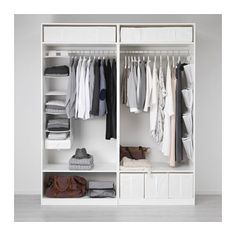 PAX Wardrobe, white, Hasvik white, cm - Shop online or in-store - IKEA