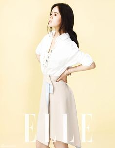 Han Ga-in // Elle Korea // April 2013 wish i could see the front better