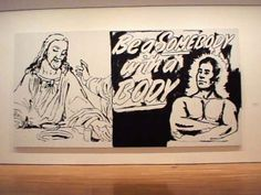 Andy Warhol: The Last Supper/Be a Somebody with a Body/1986  The Last Supper series was Andy's last work before his death. This is a snippet from his final interview:  Paul Taylor: Is there any connection between fantasy and religious feeling?  Andy Warhol: Maybe. I don't know. Church is a fun place to go.