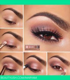 Full tutorial on my blog: http://www.maryammaquillage.com/2013/12/naked-3-tutorial-rosy-smokey.html