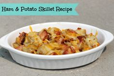 Quick and Easy Meals: Ham & Potato Skillet Recipe #DinnerIn15 - Little Miss Kate | Little Miss Kate