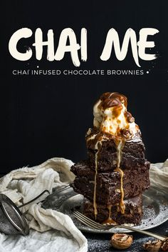 Chai Infused Chocolate Brownies - You seriously need to Chai these! https://www.maduratea.com.au/_c/recipes/chai-infused-chocolate-brownies/