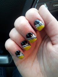 new nails today...Go Bruins :) so glad the lockout is over!