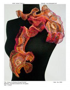 Amber O'Harrow,  Abuse of a Rainbow Through Crochet .  wire