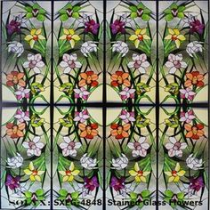 Picture of SOLYX: SXEG-4848 Stained Glass Flowers.