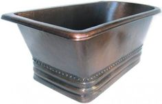 Lend instant class to your #bathroom with the slipper #copper #bathtub. Simple elegance of the #bathtubs transforms the entire room in to an out of ordinary place. A #copperbathtub provide #rustic component to the #homedecor. See our other #myRustica #bathroom fixtures that can be ordered with the same finishing.