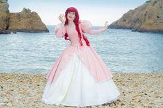 Disney´s Animation Movies: Little Mermaid. Character: Ariel: version. Pink Dress. Cosplayer: Laura Salviani 'aka' Nikita 'aka' Tomoyochan. From: Nimes, Paris, France. Event: Japan Expo Sud (Marseille, France) 2012.