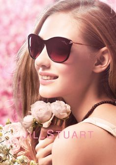 Blossem. Jill Stuart 2015 Eyewear Advertisement - Sunglasses (APD)