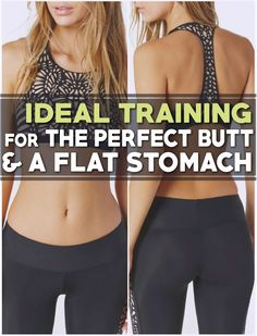 An Ideal Training For The Perfect Butt And A Flat Stomach - Body Finest Fitness Tips, Health Fitness, Fitness Inspiration, Workout Inspiration, Flat Stomach, Easy Workouts, Nice Body, Healthy Habits, Fitspiration