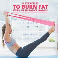 5 Exercises to Burn Fat with Resistance Bands #resistancebands #workouts #strengthtraining