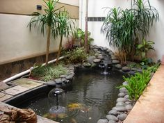 Share Via 36 fish pond design, of course, many people like it even more when to make your home page look fresher. No wonder the minimalist fish pond design is one … Small Fish Pond, Koi Fish Pond, Fish Ponds, Small Ponds, Koi Pond Design, Small Garden Design, Fountain Design, Backyard Water Feature, Ponds Backyard