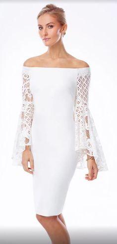 af176c96ee2 Alberto Makali Spring 2017 White Off Shoulder Dress White Off Shoulder  Dress, Off The Shoulder