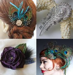 peacock-hair-accessories.jpg (922×947)    I really like the one on the bottom right. The headband one.