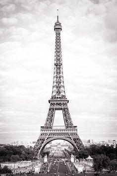 Paris Fine Art Photograph The Eiffel Tower Black