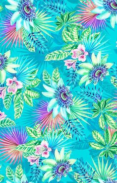 Flowers wallpaper for phone backgrounds iphone floral patterns 19 Super ideas Tropical Wallpaper, Summer Wallpaper, Colorful Wallpaper, Flower Wallpaper, Pattern Wallpaper, Phone Backgrounds, Wallpaper Backgrounds, Iphone Wallpaper, Room Wallpaper