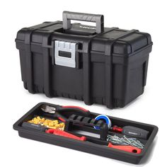 16 In. Tool Box With Metal Latch