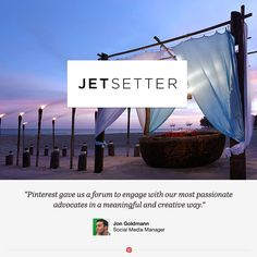 Jetsetter is a flash sale travel site that makes planning a vacation as fun and easy as traveling itself. Read about their creative uses of Pinterest promotions and contests.