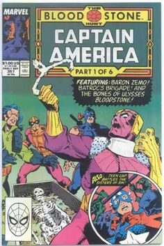 Cover for Captain America (Marvel, 1968 series) [Direct Edition] Marvel Comics Superheroes, Marvel Comic Books, Comic Book Characters, Comic Character, Marvel Art, Dc Comics, Captain America Comic Books, Marvel Captain America, Free Comic Books