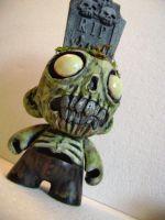 Gravehead Zombie Munny. by jonathanscarecrow
