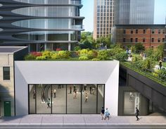 Galleries beneath Zaha Hadid's building on the Highline, by Related