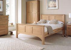 Vermont Oak HFE Bed Frame - King Size Bed Frame Only