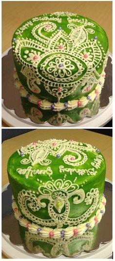 Mehndi Cake Recipe : Cakes on pinterest bridal shower buttercream