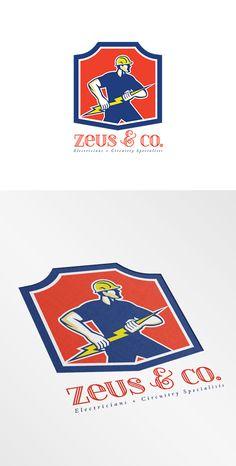 Zeus and Co Electricians Logo ~ Logo Templates on Creative Market
