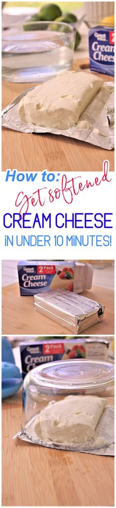 Clever Baking Hack - How to Get Softened Cream Cheese Not Melted in Under 10 Minutes EASY - Dreaming in DIY easy 3 ingredients easy for a crowd easy healthy easy party easy quick easy simple Sour Cream Cheesecake, Cheesecake Desserts, Lemon Desserts, Easy Desserts, Dessert Recipes, Mini Desserts, Candy Recipes, Individual Desserts, Brunch Recipes