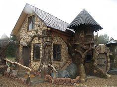 Сказочный поселок Берендеево царство, Валдай, Россия / Fairy village Berendeevo Kingdom, Valday, Russia