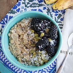 Perfect Microwave Banana Oatmeal HealthyAperture.com