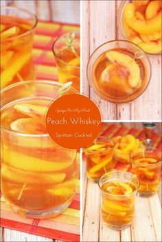 Need a low-calorie spritzer cocktail for your next party? Try my Georgia On My Mind Peach Whiskey Spritzer Cocktail. Get the recipe at This Mama Cooks! On a Diet #sponsored #DrinkVintage #CG