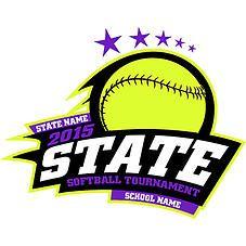 high school state softball customizable design cricket school rh pinterest com Cool Softball Logos Softball T -Shirt Designs