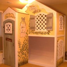 painted custom playhouse for elle