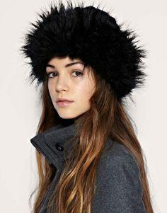 COSSACK SKI HEADBAND HAT FAUX FUR ANIMAL LEOPARD ZEBRA SNOW LEOPARD LADIES GIRLS