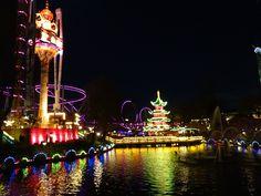 Tivoli Gardens, Copenhagen, Denmark Tivoli Gardens, Copenhagen Denmark, Fair Grounds, Beautiful