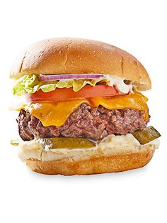 Toppings for Burgers - Burger Recipes - Good Housekeeping~Guy Fieri's Donkey Sauce Burger