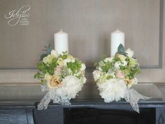 lumanari cununie religioasa nunta | design Idyllic Events | wedding candles with flowers
