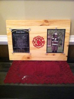 FireFighter's Hero Plaque. Firemen by ElsiesCreativeDesign on Etsy