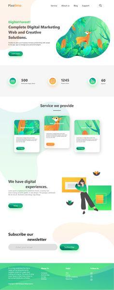 Website for Digital Marketing agency on Behance Digital Marketing Logo, Online Marketing, Agency Logo, Web Design, Business Website, Website Template, Banner Design, Branding, Creative