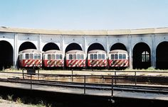 Roundhouse's Five, Five Nohab diesel locomotives, side by side, Barreiro, Portugal | Flickr - Photo Sharing!